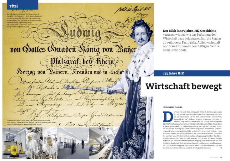 """Titelgeschichte """"Wirtschaft konkret"""" 1/2018 über 175 Jahre IHK"""